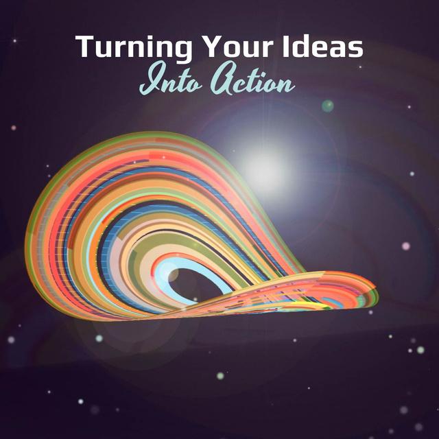 Szablon projektu Bright rotating circles and lines Animated Post