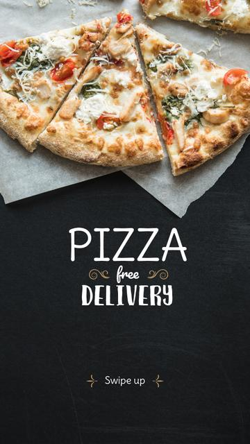 Modèle de visuel Pizzeria Offer Hot Pizza Pieces - Instagram Story