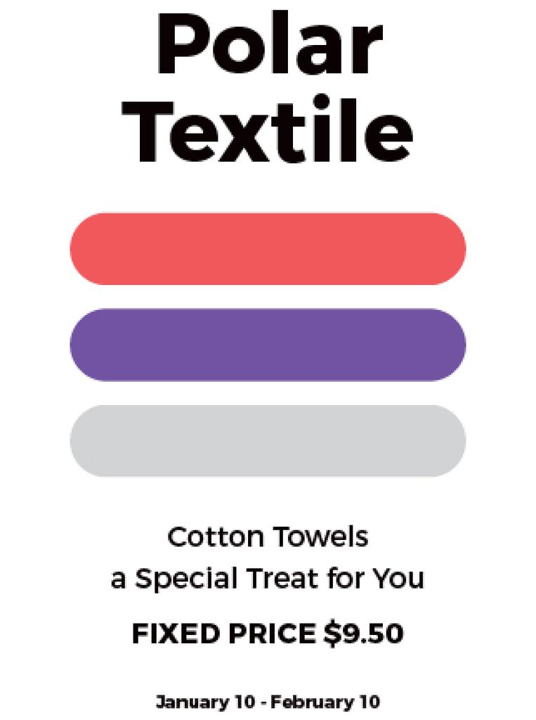Textile towels offer colorful lines — Modelo de projeto