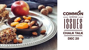 Nutrition Guide with dried Fruits and Nuts