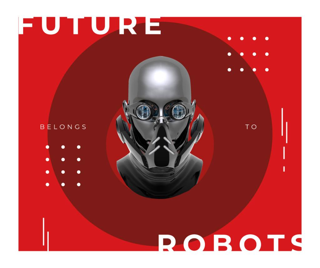 Futuristic Android robot model Facebook Modelo de Design