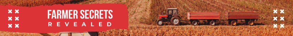 Plantilla de diseño de Farming Tips Tractor Working in Field Leaderboard