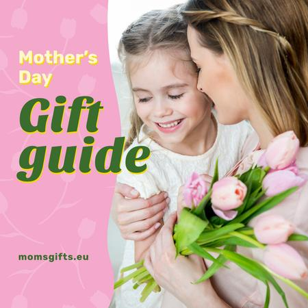 Template di design Happy mother with her daughter on Mother's Day Instagram