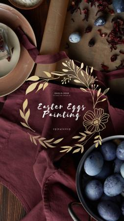 Coloring Easter Eggs Workshop Invitation Instagram Video Story Modelo de Design