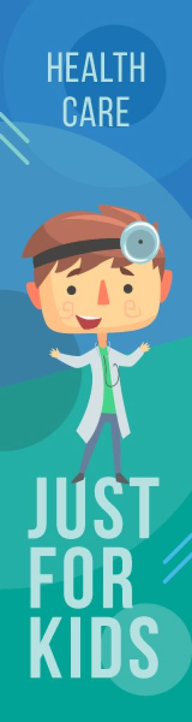 Kids' Healthcare Confident Doctor with Stethoscope — Modelo de projeto