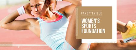 Womens sports foundation Ad Facebook coverデザインテンプレート