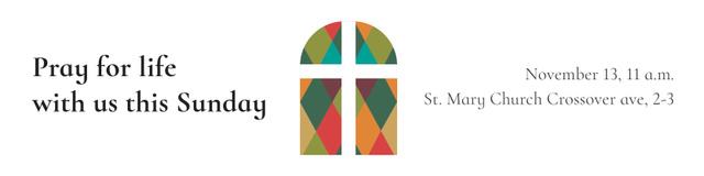 Invitation to Pray with Church Windows Twitter Modelo de Design