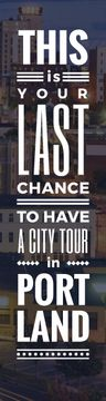City tour advertisement banner
