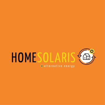 Alternative Energy Sources with Home Icon