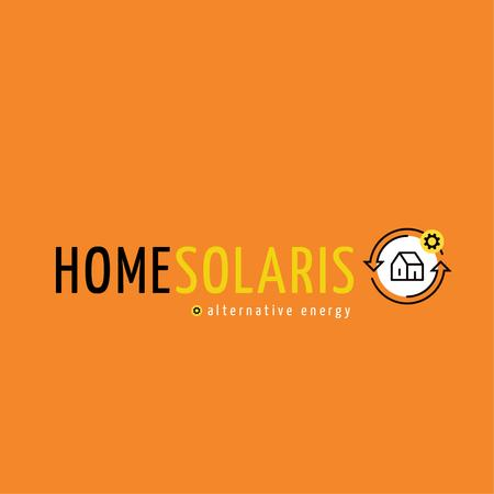 Alternative Energy Sources with Home Icon Logo Modelo de Design