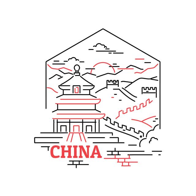 Plantilla de diseño de China famous travelling spots Animated Post