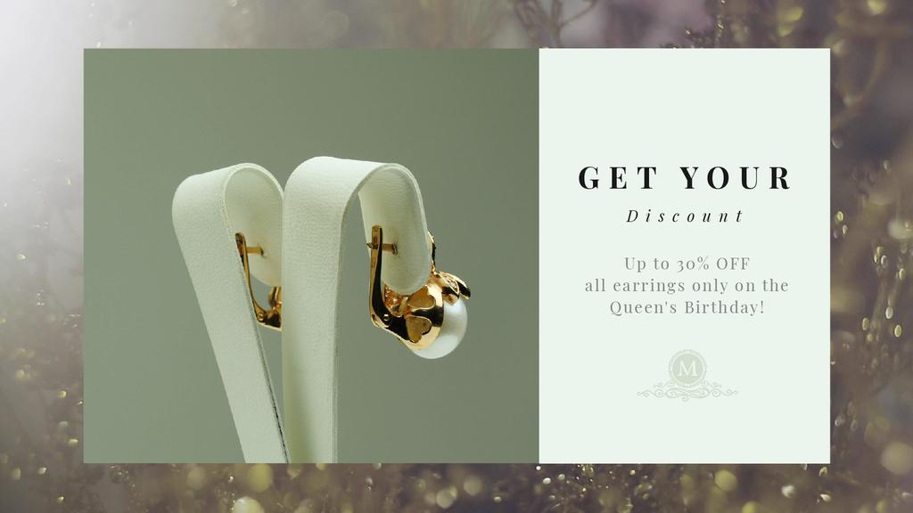 Queen's Birthday Sale Jewelry with Diamonds and Pearls — Создать дизайн