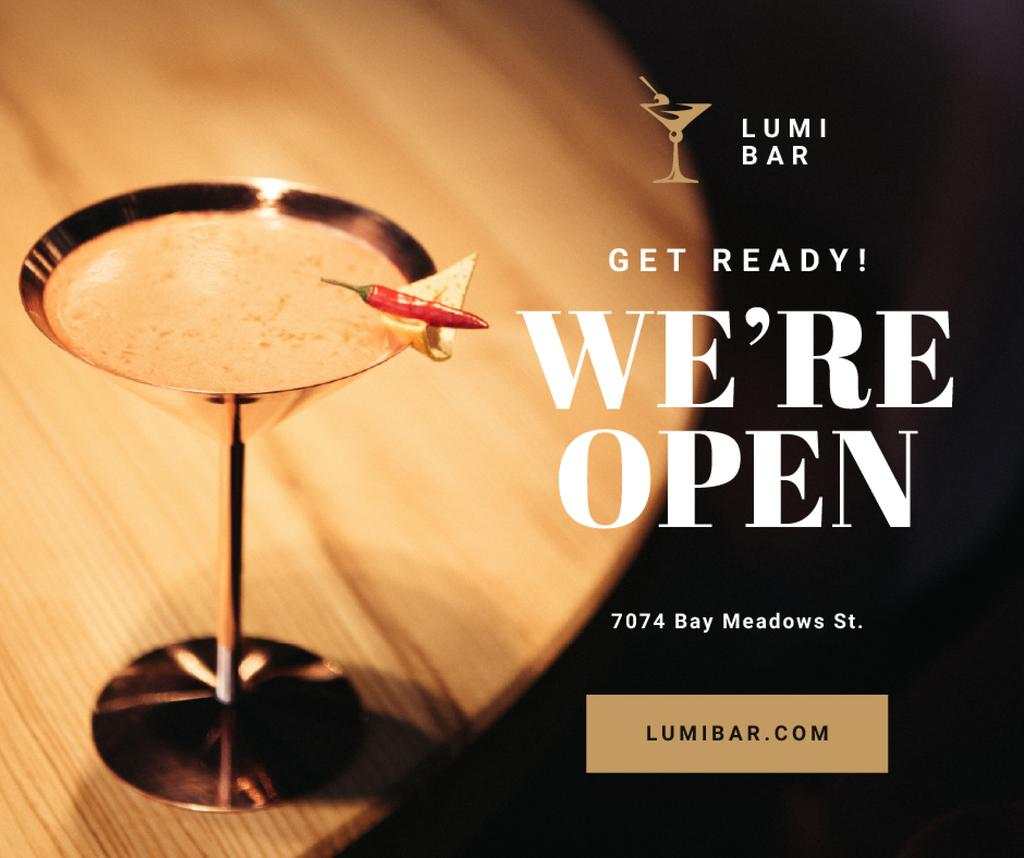 Bar Promotion Glass with Cocktail — Modelo de projeto