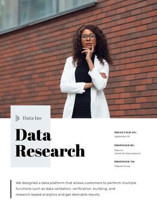 Plantilla de diseño de Data Research platform services Proposal