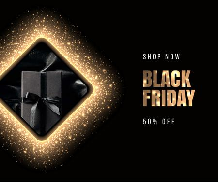 Plantilla de diseño de Black Friday sale with Gift Facebook