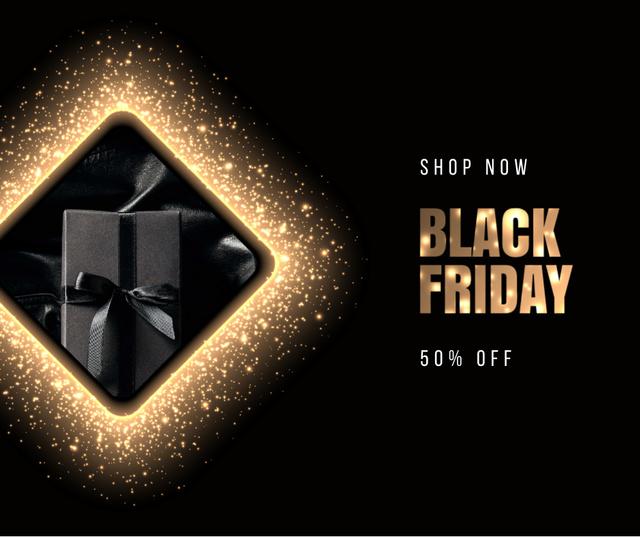 Plantilla de diseño de Black Friday sale with Gift Facebook
