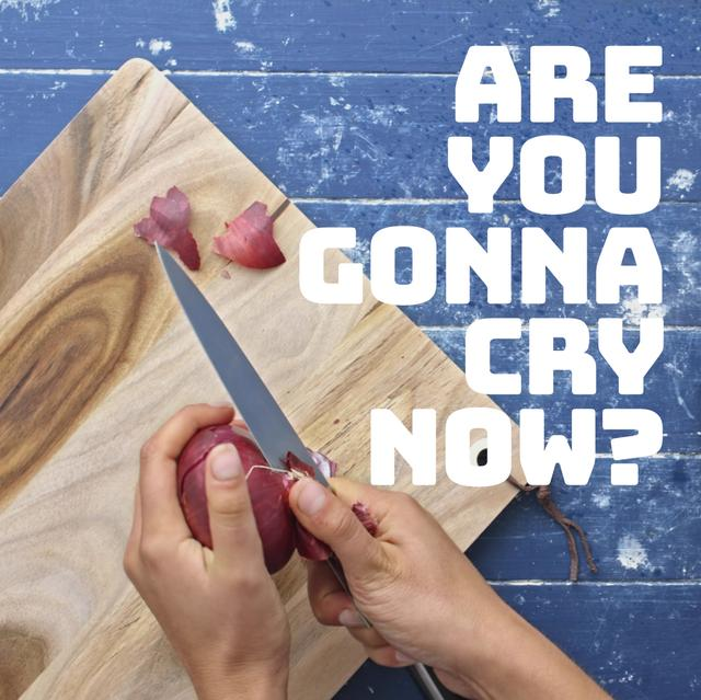 Plantilla de diseño de Woman peeling onion Animated Post