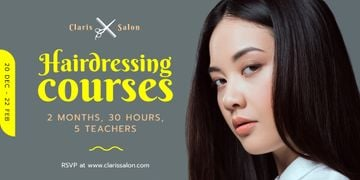 Hairdressing Courses Ad Woman with Brunette Hair