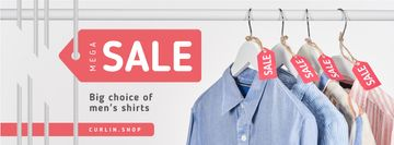 Clothes Sale Shirts on Hangers | Facebook Cover Template