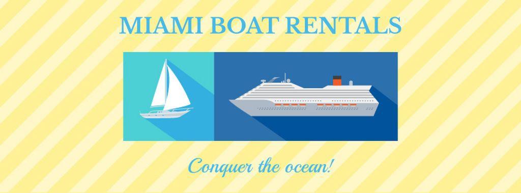Miami boat rentals advertisement — Crear un diseño