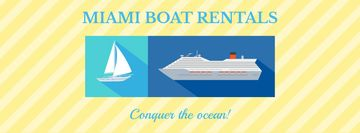Miami boat rentals advertisement