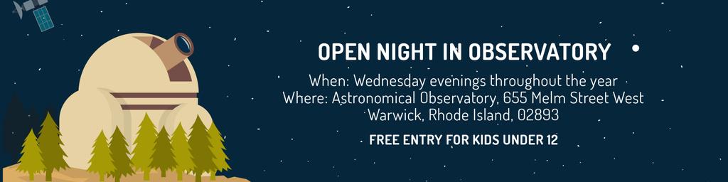 Open night in Observatory — Crea un design