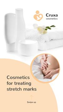 Cosmetics for Pregnant Women Ad in White