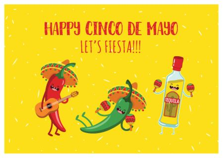 Cinco de Mayo festival Postcard Design Template