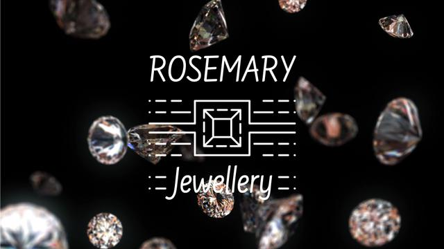 Jewelry Ad Shiny Diamonds Falling down Full HD video Modelo de Design