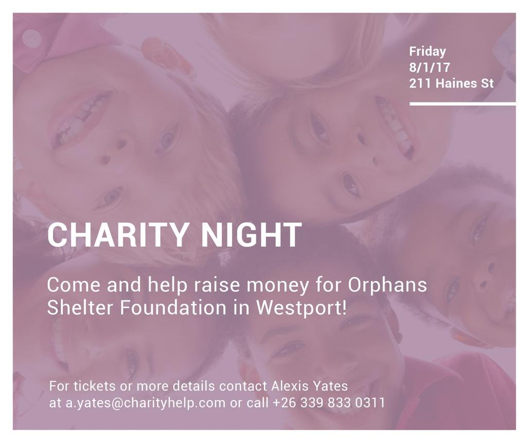Corporate Charity Night — Create a Design