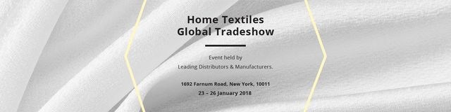 Home textiles global tradeshow Twitter Modelo de Design