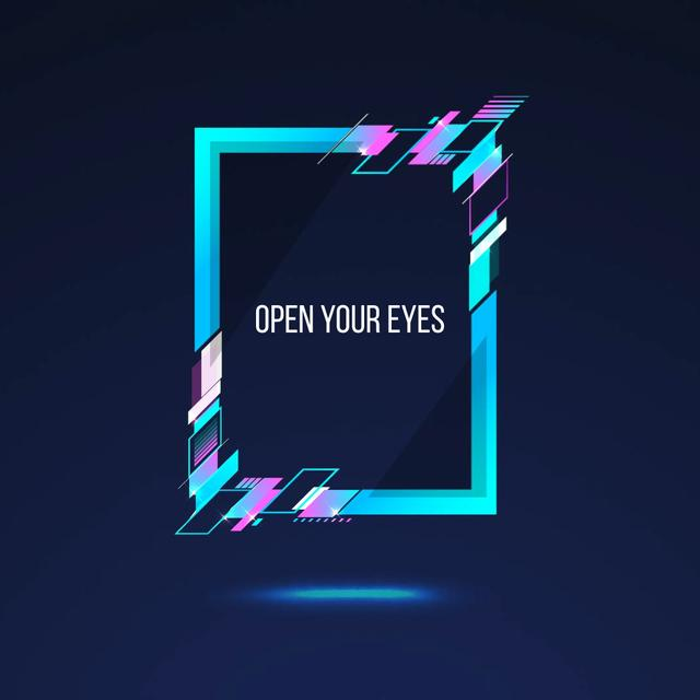 Plantilla de diseño de Frame with glitch effect Animated Post