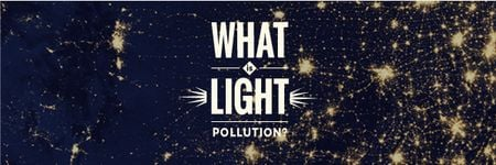Ontwerpsjabloon van Email header van Light pollution Awareness