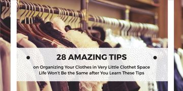 Tips for organizing clothes poster