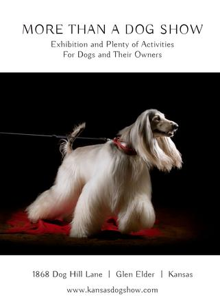 Plantilla de diseño de Dog Show announcement with pedigree pet Invitation
