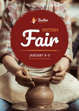 Pottery Fair Man Creating Jar | Flyer Template