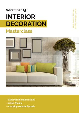 Ontwerpsjabloon van Poster van Masterclass of Interior decoration