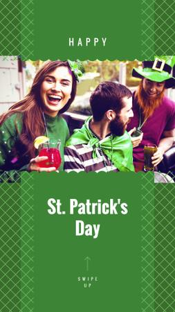 People celebrating Saint Patrick's Day Instagram Story Design Template