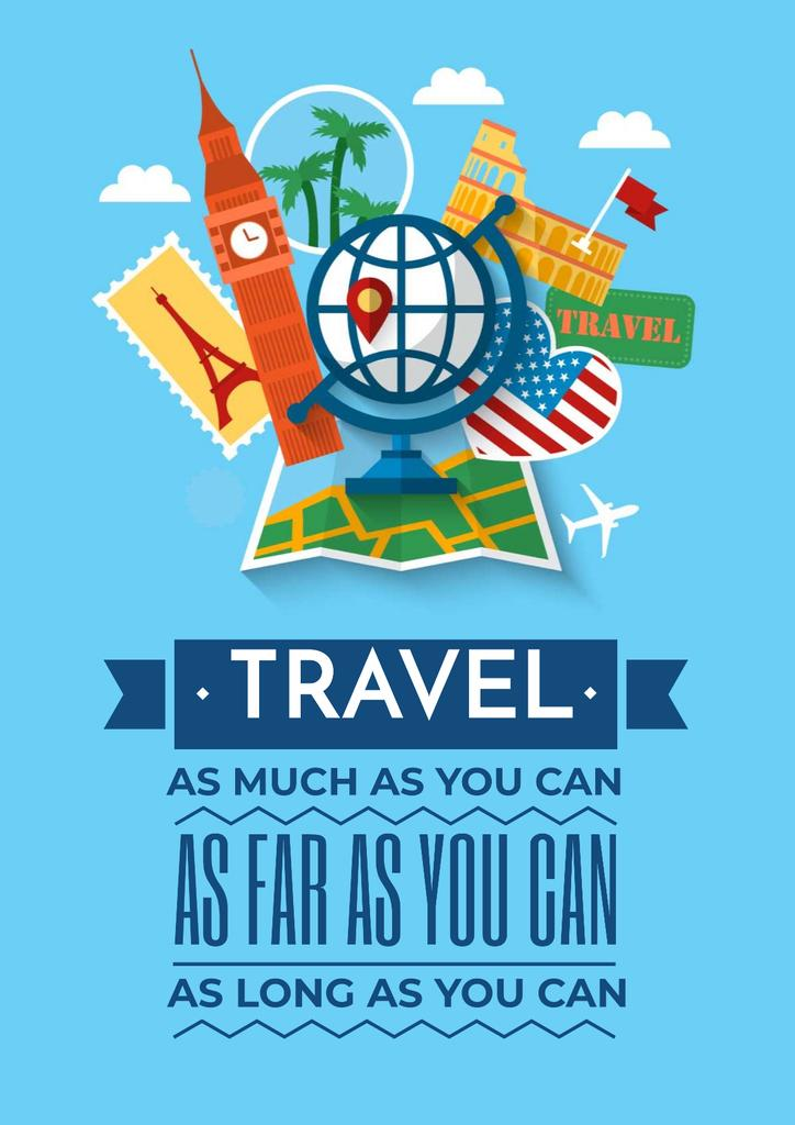 Travel motivational Quote with slogan — Create a Design