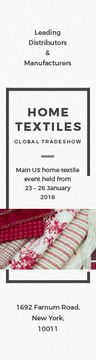 Home Textiles Event Announcement in Red | Wide Skyscraper Template
