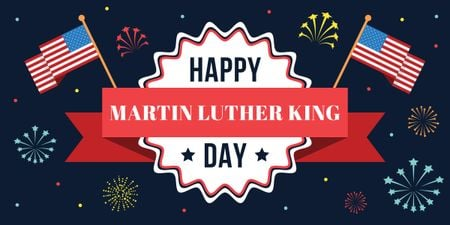 Plantilla de diseño de Martin Luther King day card Image
