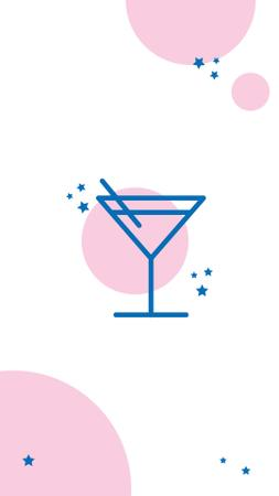 Designvorlage Drinks and Food icons for Restaurant menu für Instagram Highlight Cover