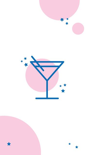 Plantilla de diseño de Drinks and Food icons for Restaurant menu Instagram Highlight Cover