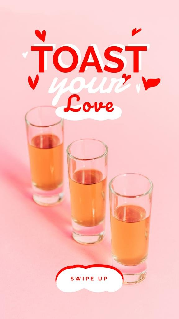 Love Quote Glasses with Drinks — Modelo de projeto