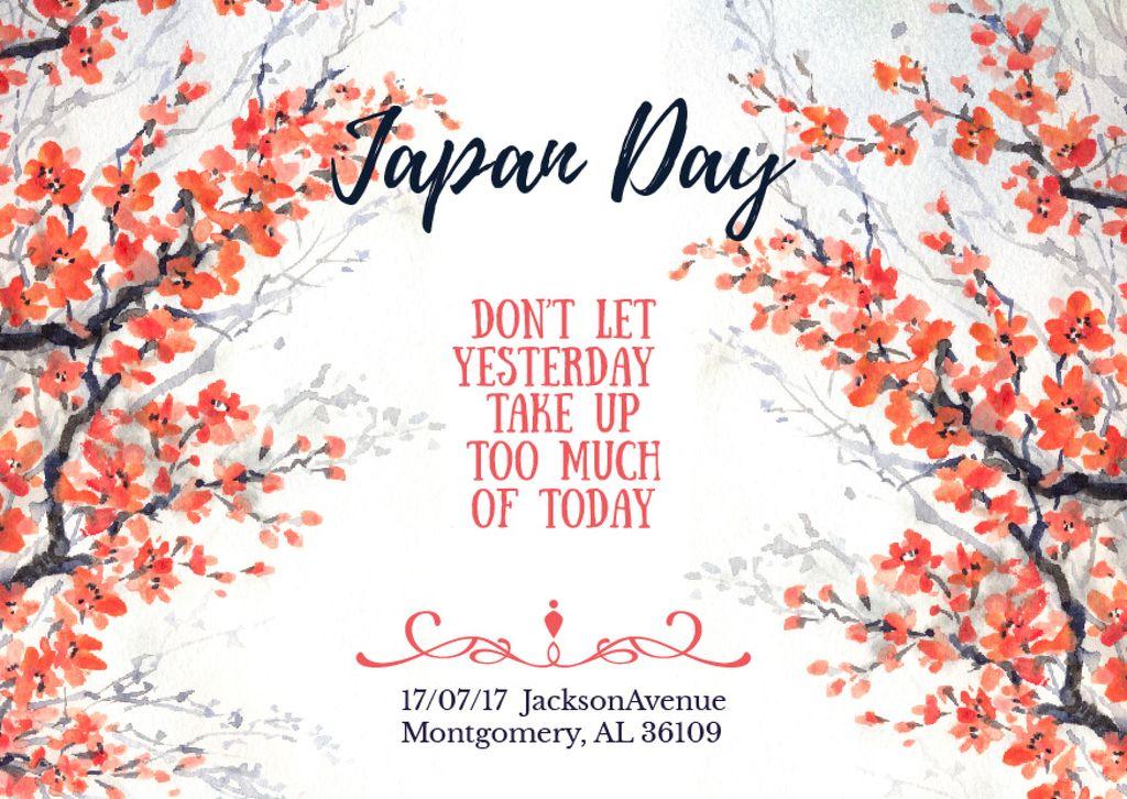 Japan day invitation  — Crea un design