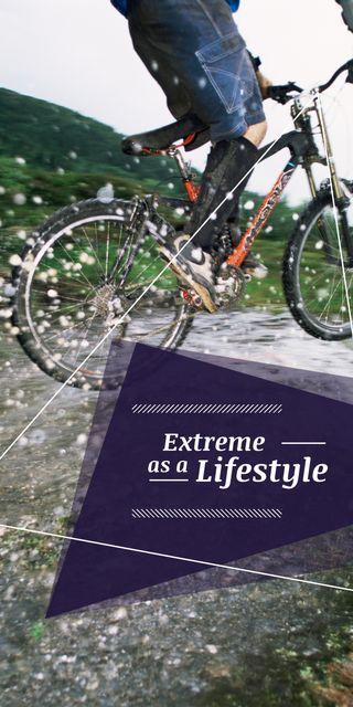Modèle de visuel Extreme Sport inspiration Cyclist in Mountains - Graphic