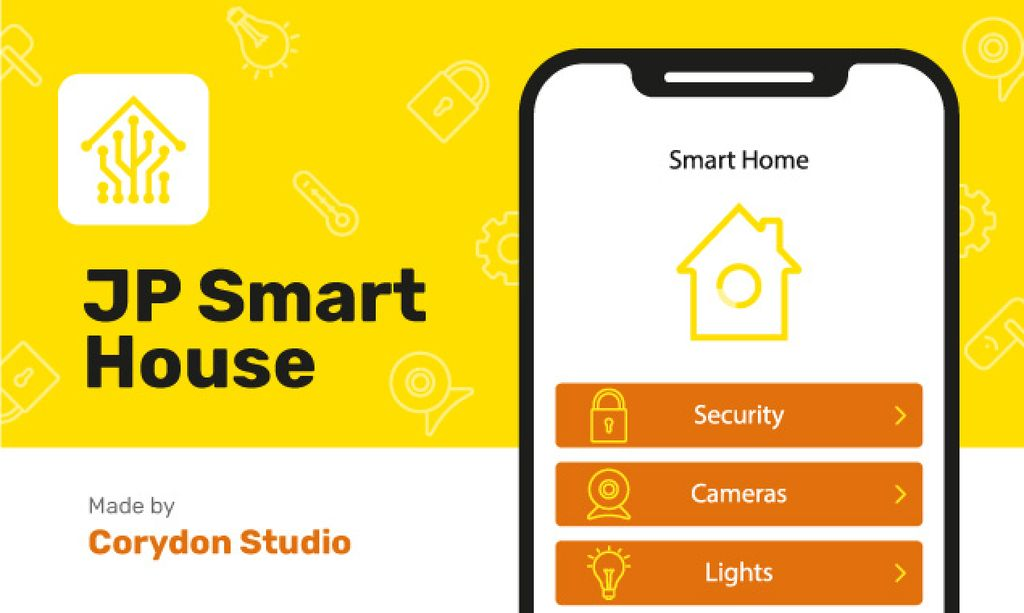 Product Hunt Launch Ad Smart Home App on Screen — Створити дизайн