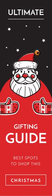 Red Santa Claus Skyscraper – шаблон для дизайна