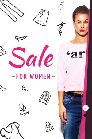 Szablon projektu Sale for women Ad Pinterest