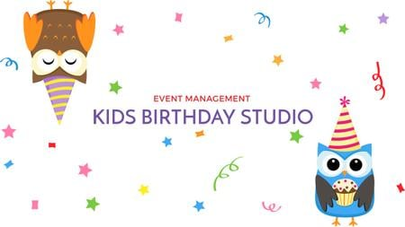 Plantilla de diseño de Birthday Invitation with Party Owls Youtube